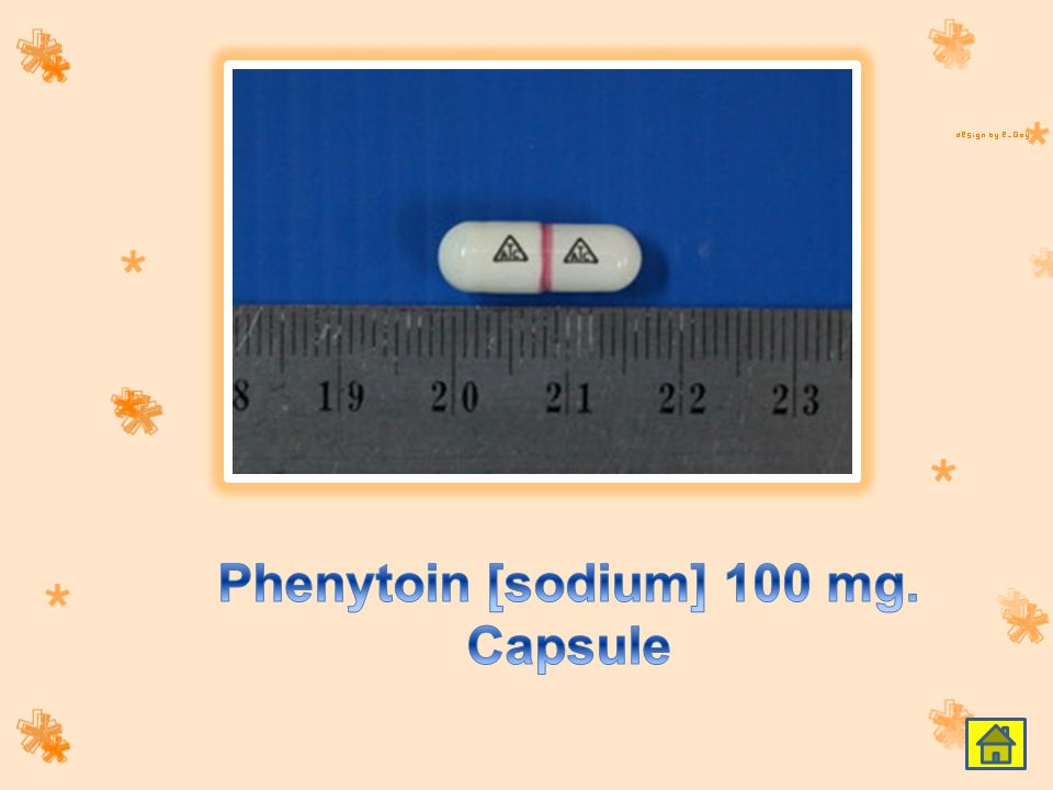 Phenytoin [sodium] 100 mg. Capsule